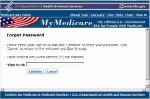 Medicare Forgot Password