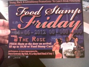 Food Stamp Friday Party