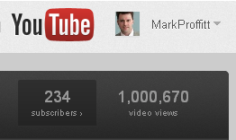 Mark Proffitt 1 million Youtube views